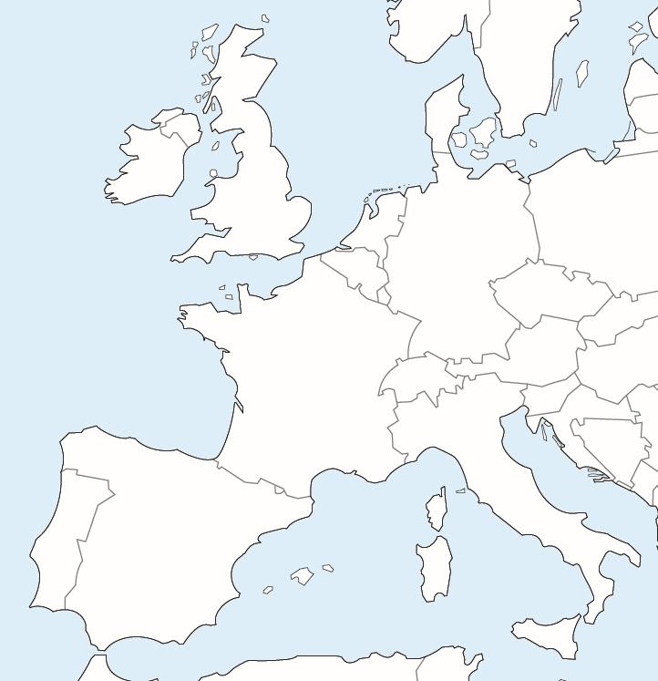 carte de france et pays limitrophes